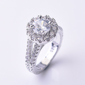 Image 3 - Flash kaplı 925 gümüş elmas yüzük kadınlar için yuvarlak Anillos Bizuteria nişan Topaz taş S925 gümüş takı yüzük