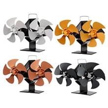Doppel 5 Klingen Kamin Fan, kraftstoff Kosten Saving Umweltfreundliche Wärme Versorgt Herd Fan für Holz/Log Brenner/Kamin 10 Klingen
