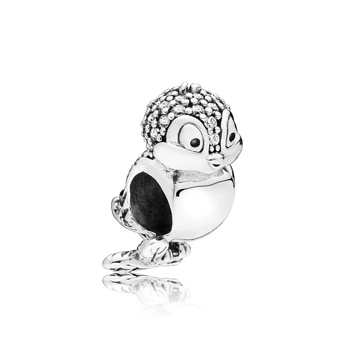 Real 925 Sterling Silver Beads Snow White With Zircon Filled Birds Original Pandora Bracelet For Women's DIY Jewelry