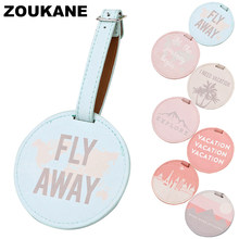 Zoukane Cute Round Luggage Tags Suitcases bag weeding- Tag Identifier Travel Accessories Men luggage Label New Discount LT01(China)
