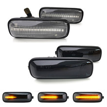 2Pcs Dynamic Amber LED Car Side Marker Lights Turn Signal Lamps 12V For Honda Civic 1995 1999 Ballade Hatchback Sedan Prelude
