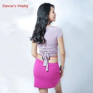 Image 2 - Nuovo Stile di Danza Del Ventre Sexy Haft A Maniche Lunghe Top Vestiti + Pannello Esterno 2 pcs del Vestito Per Le Donne di Danza Del Ventre Del Ventre set di danza Delle Ragazze di Danza Set