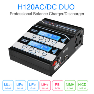 Image 5 - HTRC H120 Battery Charger Double Output 50W/70W 100W*2 10A AC/DC RC Balance Discharger for Lilon/LiPo/LiFe/LiHV/Pb Battery
