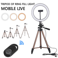 New 10 inch LED Ring Light Dimmable with Phone Tripod for Live For Mobile Phone Holders Stands Selfie LED Ring Light