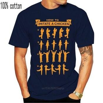 Niestandardowy T Shirt drukowanie mężczyzna Tshirt aresztowany rozwój jak naśladować kurczaka dorosły czarny T Shirt