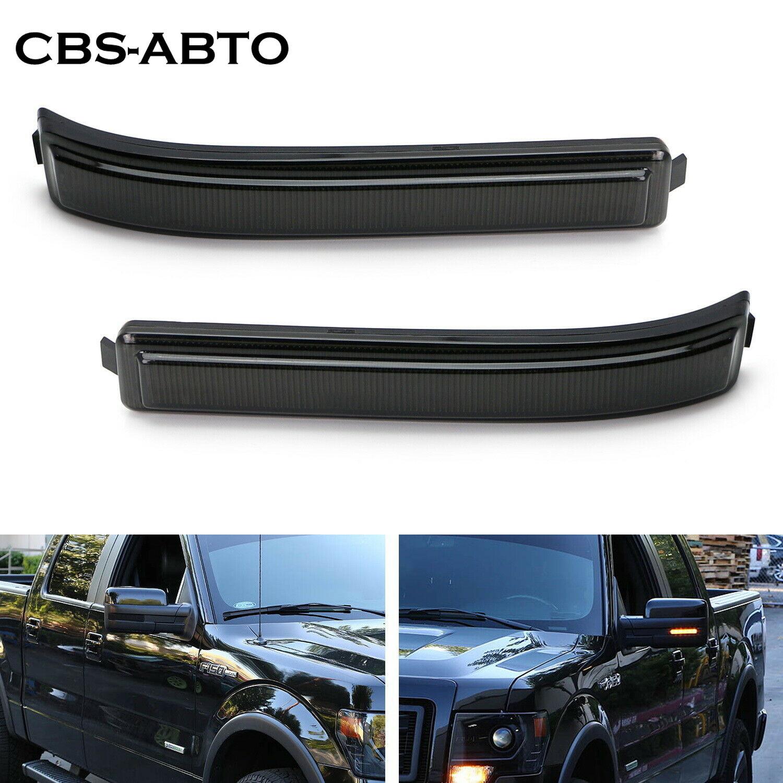 2 шт. светодиодный Зеркало заднего вида свет для Ford 9L3Z17E748BA 9L3Z17E749BA точка F150 2009-2014 Raptor 2010-2014 желтый указатель поворота