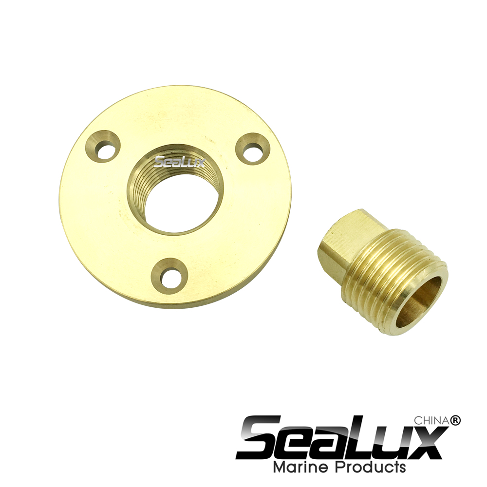 Sealux Brass Drain Plug Bronze Garboard Marine Boat Yacht Screw Drain Plug 1 Inch Hole Fishing