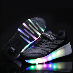 Women Kids LED Lights Shoes Children Roller Skate Sneakers with Wheels Glowing Led Light Up for Boys Girls Running Shoes