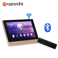 A7 Home Audio video music system,Bluetooth digital stereo amplifier,7 touch screen in wall amplifier for home audio