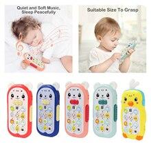 Мультфильм ребенок телефон игрушка притвориться играть музыка звук машина с светом для малышей мальчиков девочек