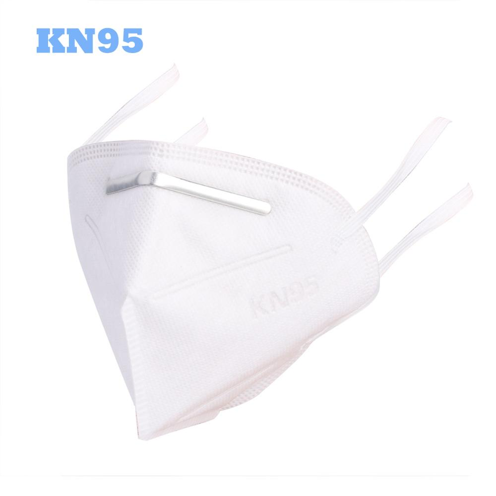 50pcs N95 Mask Disposable Face Mouth Mask 95% Filtration Non-woven Fabric Protective Masks For Dust Particles Pollution