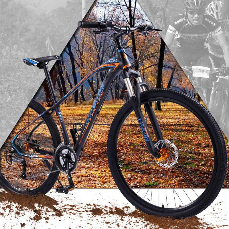 Wolf Fang Sepeda Gunung Sepeda 29 Inci 27 Kecepatan Aluminium Paduan Bingkai Sepeda Jalan Musim Semi Garpu Depan dan Belakang mekanik Sepeda