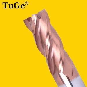 Image 2 - Tuge Tool HRC55 4 Fluit Tungsten Staal Carbide Frees Cnc Platte Frezen Voor Staal Metalen Legering