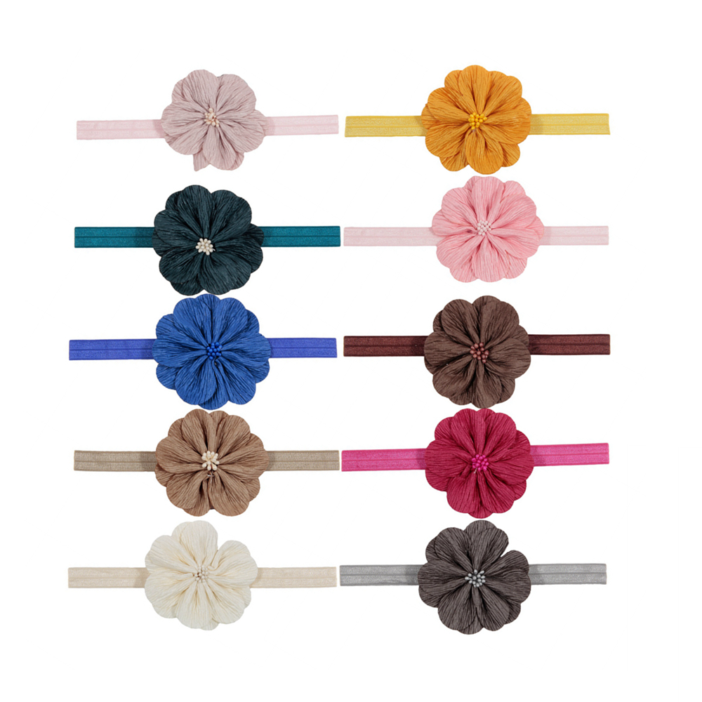 New 6pcs/lot Baby Girls Flower Headbands Kids Elastic Floral Headwear Cute Photography Props Children Hair Accessories Gifts