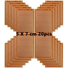 النحاس برفوبوارد 20 قطعة ورقة مركب PCB لوحات (5 سنتيمتر x 7 سنتيمتر) العالمي اللوح جانب واحد مطبوعة لوحة دوائر كهربائية