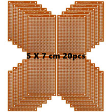 구리 perfboard 20 pcs 종이 복합 pcb 보드 (5 cm x 7 cm) 범용 breadboard 단일 양면 인쇄 회로 기판