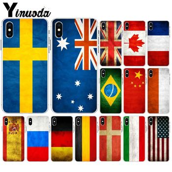 Yinuoda National flag Transparent Soft Silicone Phone Case Cover for Apple iPhone 8 7 6 6S Plus X XS MAX 5 5S SE XR Cellphones image