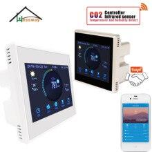 Hessway Tuya App RS485 E Modbus Analizzatore di Gas Co2 a Infrarossi Del Sensore Del Rivelatore per Sistema di Aria di Controllo