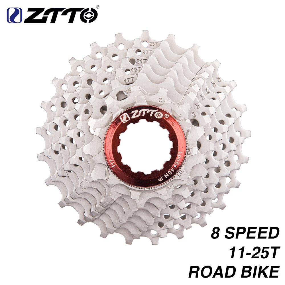 ZTTO 8s 11-25T Cassette Freewheel Road Bike Bicycle Parts 16s 24s 8 Speed Sprocket Compatible