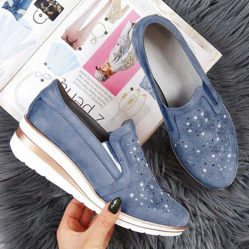 Adisputent 2019 ฤดูใบไม้ผลิผู้หญิงรองเท้าหนังลำลองผู้หญิงแพลตฟอร์มรองเท้าผ้าใบ Creepers Cutouts บนแฟลตรองเท้าแตะรองเท้าผู้หญิง