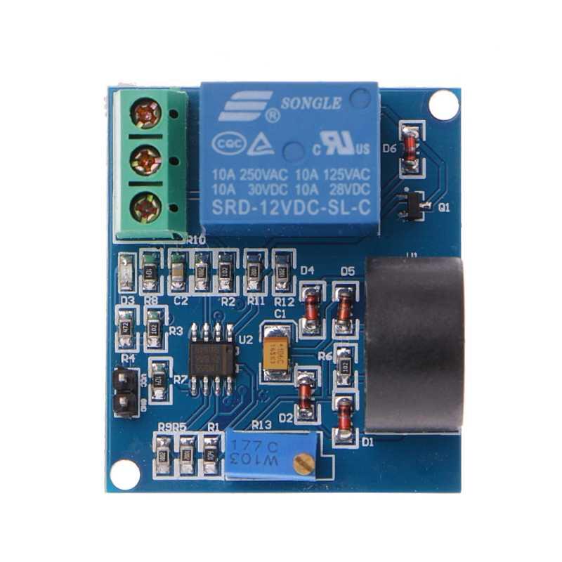 5A moduł przekaźnika zabezpieczenia nadprądowego AC płytka wykrywania prądu 12 V/5 V przekaźnik hurtowy dropshipping