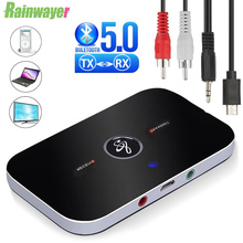 B6 Bluetooth 5.0 Transmitter Receiver Wireless Audio Adapter For PC TV Headphone Car 3.5mm 3.5 AUX Music Receiver Sender