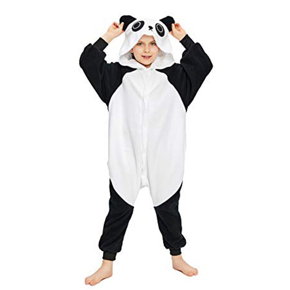 Disfraz de Halloween Unisex de una pieza con diseño de Panda para niños, ideal como regalo Lote de 8 unidades de figuras de acción de Panda, Panda, Mini modelo de PVC para niños, juguetes de animales para niños, regalos de cumpleaños