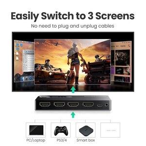 Image 2 - Ugreen мини 3 разъём(ов) HDMI переключатель переключатель hdmi сплиттер hdmi портовый для XBOX 360 PS3 PS4 смарт android HD 1080 P 3 вход на 1 выход