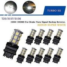 10 pcs 3156 T25 3157 LED Bulb Super Bright White 1