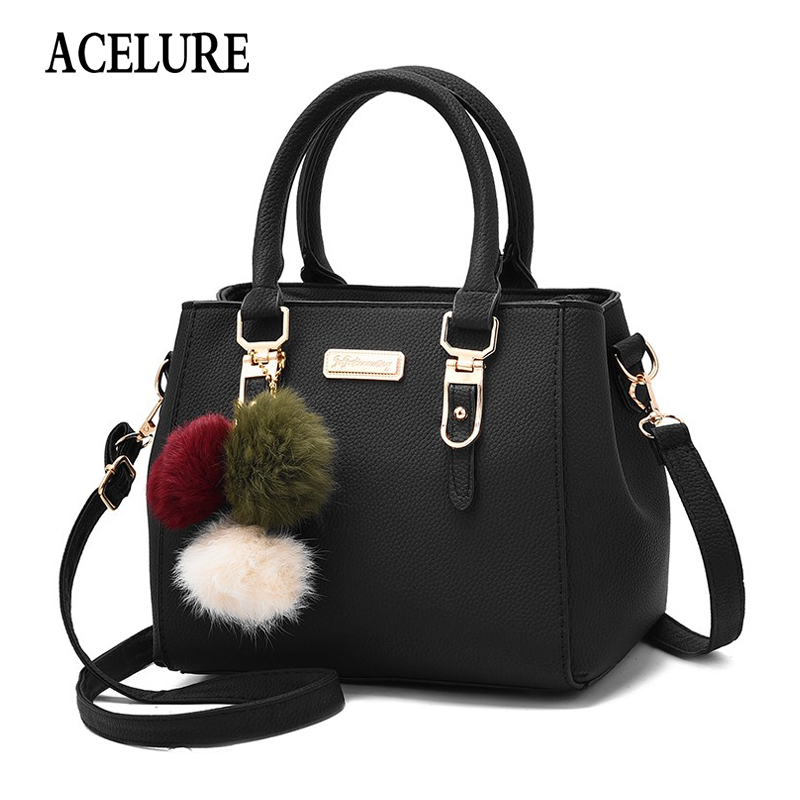 ACELURE Fashion High-capacity Women Shoulder Crossbody Bags Solid Color PU Leather Ladies Handbags All-match  Clutch Bag Purses