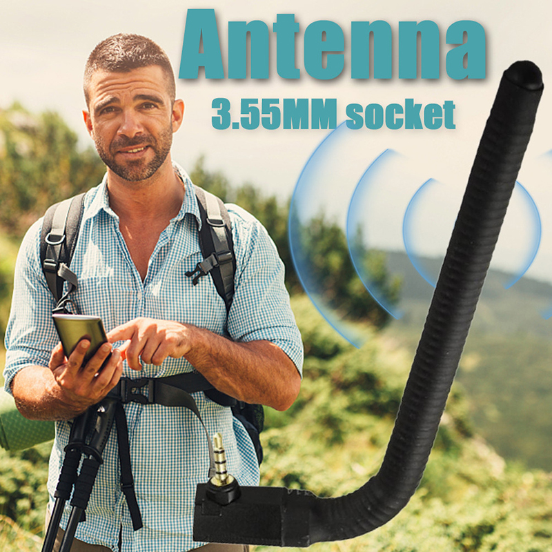 2020 NEW 6dBi 3.5mm Jack Phone Signal Booster Universal External Wireless Antenna Signal Strengthen Booster Cell Phone FM Radio