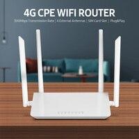 Router WiFi CPE 4G LTE Router Wireless ad alta velocità da 300Mbps ampia copertura con 4 antenne esterne Slot per schede SIM versione europea