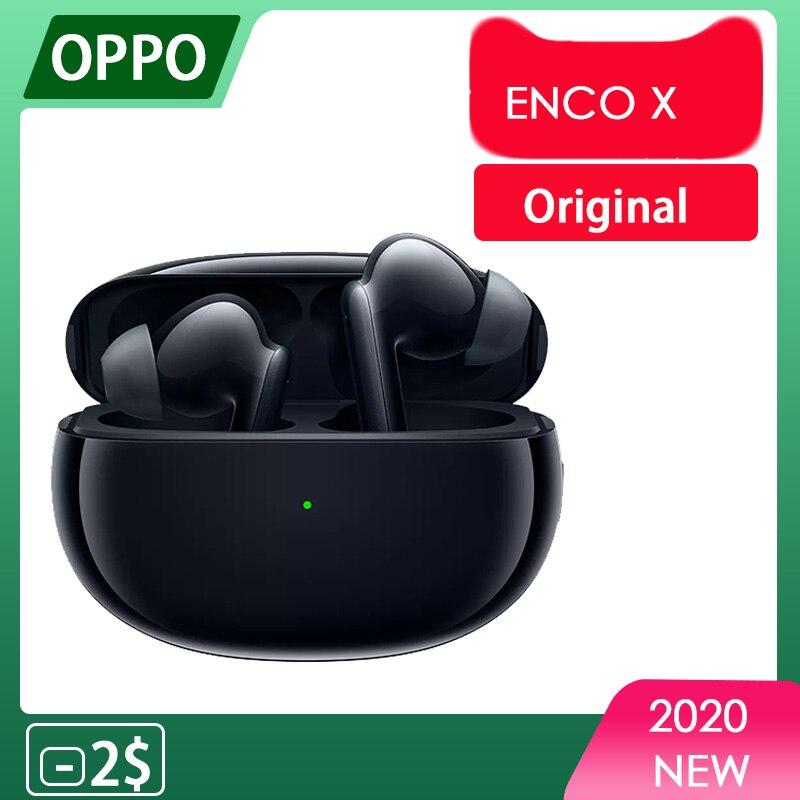 Оригинальные беспроводные наушники OPPO Enco X TWS Bluetooth 5,2, наушники-вкладыши с активным шумоподавлением для OPPO Reno 4 Pro SE мобильный телефон