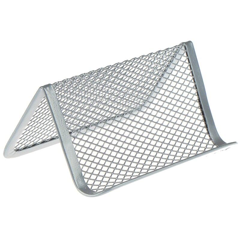 Shelf Office Accessories Organizer Display Stand Practical Desk Storage Desktop Metal Mesh Business Card Holder Fashion Portable