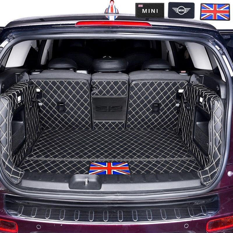 Car Trunk Mat For BMW MINI ONE Cooper F54 F55 F56F60R60  Leather Pad JCW Parts COUNTRYMAN CLUBMAN HATCHBACK Interior Accessories