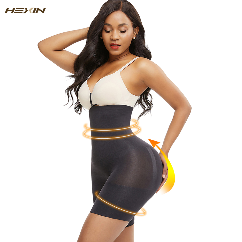 HEXIN Butt Lifter Seamless Women High Waist Slimming Tummy Control Panties Briefs Plus Shapewear Underwear Body Shaper Corset