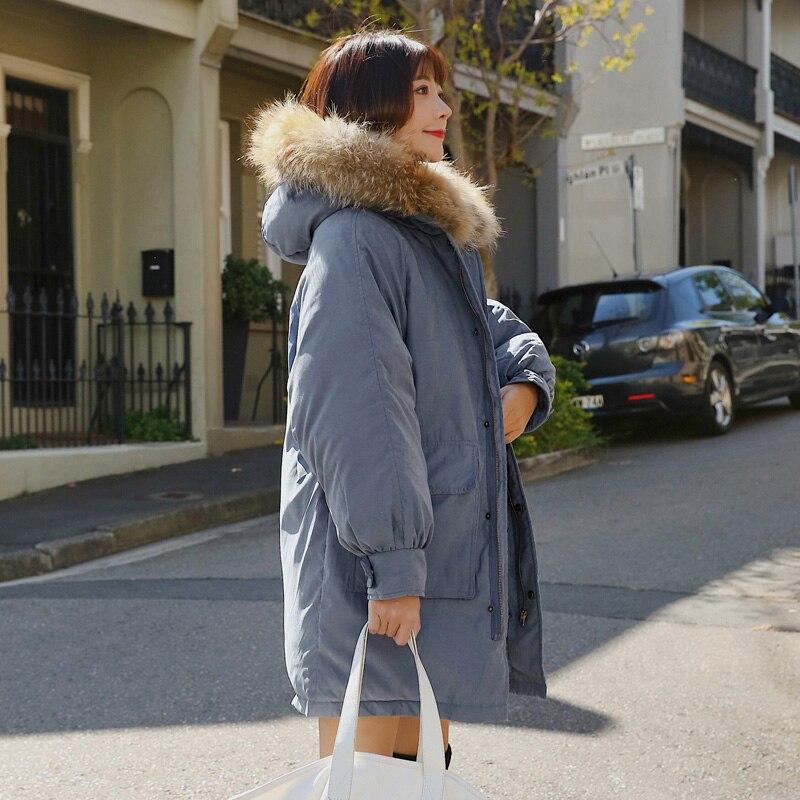 Cotton Padded Jacket Outwear   Parkas   Female Loose Warm Hood Long Coat