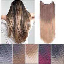 Женские синтетические пряди для наращивания волос без зажимов