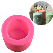 Многофункциональная Рождественская силиконовая свечная форма ручной работы, форма для мыла, помадка, инструмент для украшения торта, шоколадные конфеты, кондитерские изделия, форма для выпечки торта