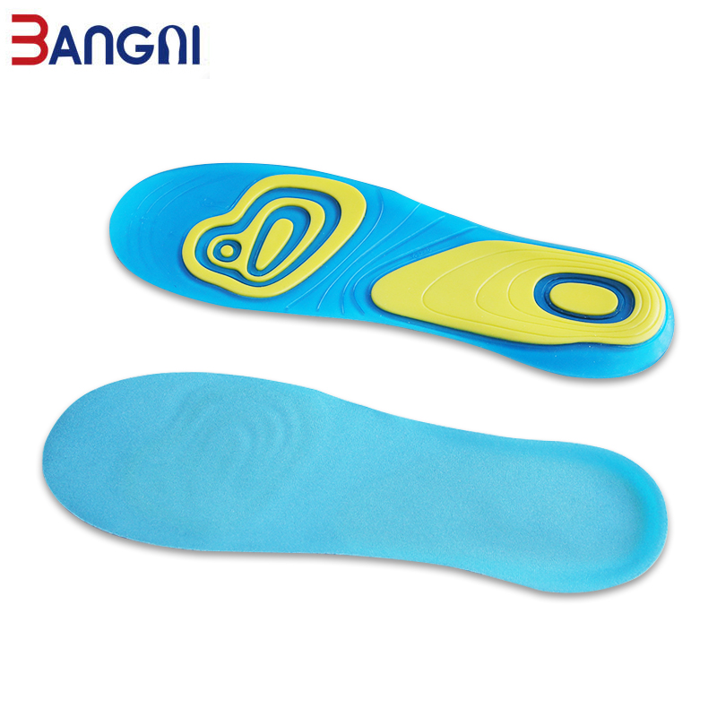 Pair Silicone Gel Plantar Fasciitis Orthotic Insoles Arch Support Shoe Padded US