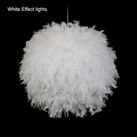 Unique Pendant White Feather Lamp Romantic Dreamlike Feather Droplight Bedroom Living Room Parlor Hanging Lamp