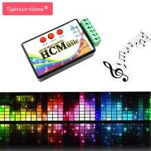 Neue LED Musik Controller DC5V 24V WS2812b WS2811 WS2813 6803 1903 IC Digital Adressierbare Pixel Streifen Stimme Sensor HC Controller