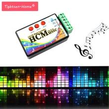 Nowy LED pilot do muzyki DC5V 24V WS2812b WS2811 WS2813 6803 1903 IC cyfrowy adresowany pikseli taśmy głos czujnik HC kontroler