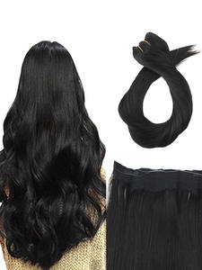 Moresoo Wire-Machine Human-Hair-Extensions Halo Hair-Invisible-Hidden Brazilian-Hair