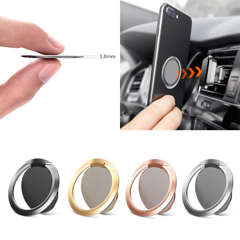 Magnetic Car Phone Holder Stand For Samsung Galaxy S8 S9 IPhone X 8 Phone Bracket Ultra-thin 1.8mm Universial Finger Ring Holder