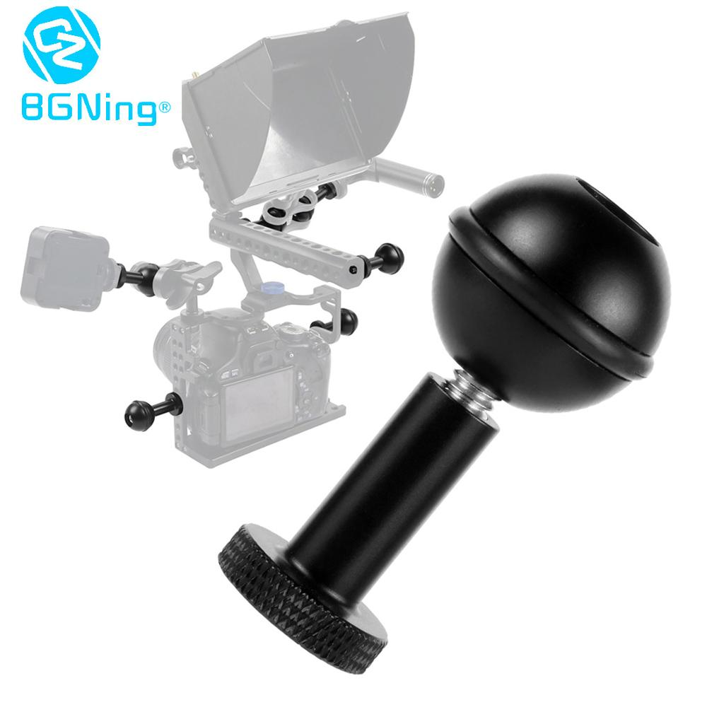 BGNing Aluminum 1inch Ball Head Anti-loose Adapter 1/4 M5 Adjustable Screw Fix Mount For Canon/Sony/Nikon Camera Cage Accessory