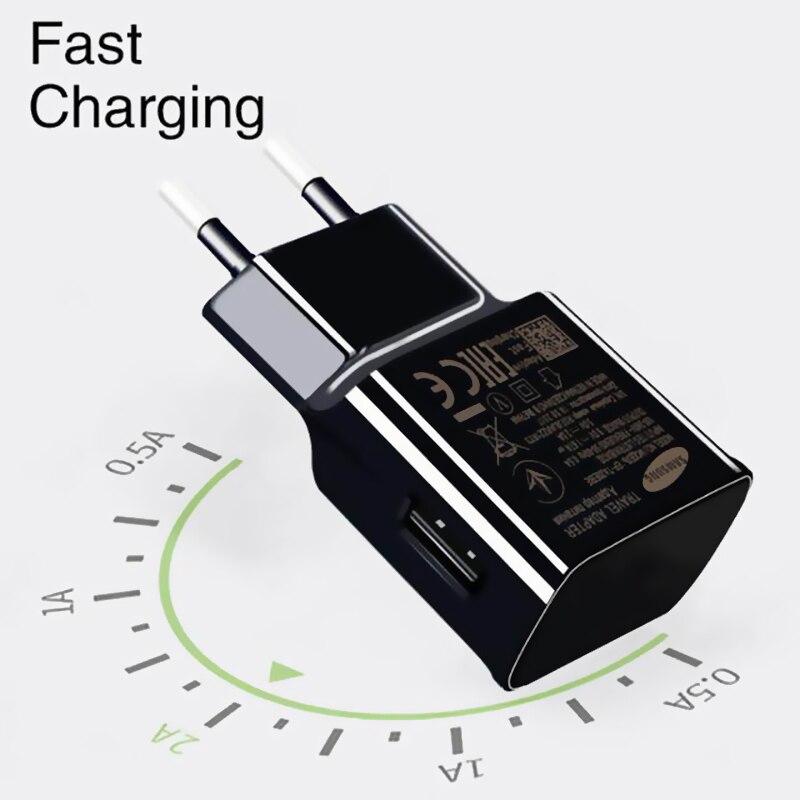 USB C для samsung S8 S9 plus Оригинальное быстрое зарядное устройство 1,2 м usb type C Kabel дорожный адаптер ЕС/США Note8 S9 S8 C5 c7 C9 pro устройства