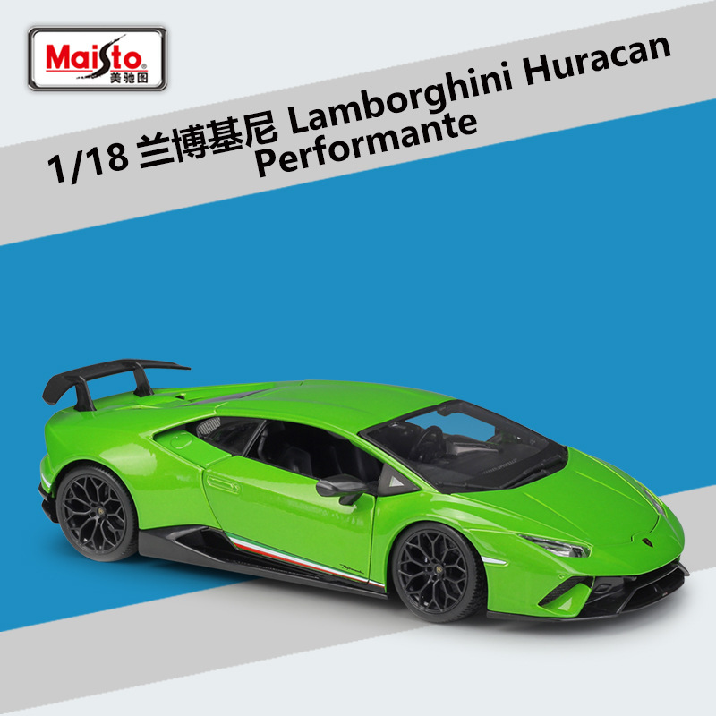 <font><b>1</b></font>/<font><b>18</b></font> Lamborghini Huracan Performante Cars Alloy Diecast Model Maisto Metal Car Miniatures <font><b>Voiture</b></font> Mini Car Collection Toys image