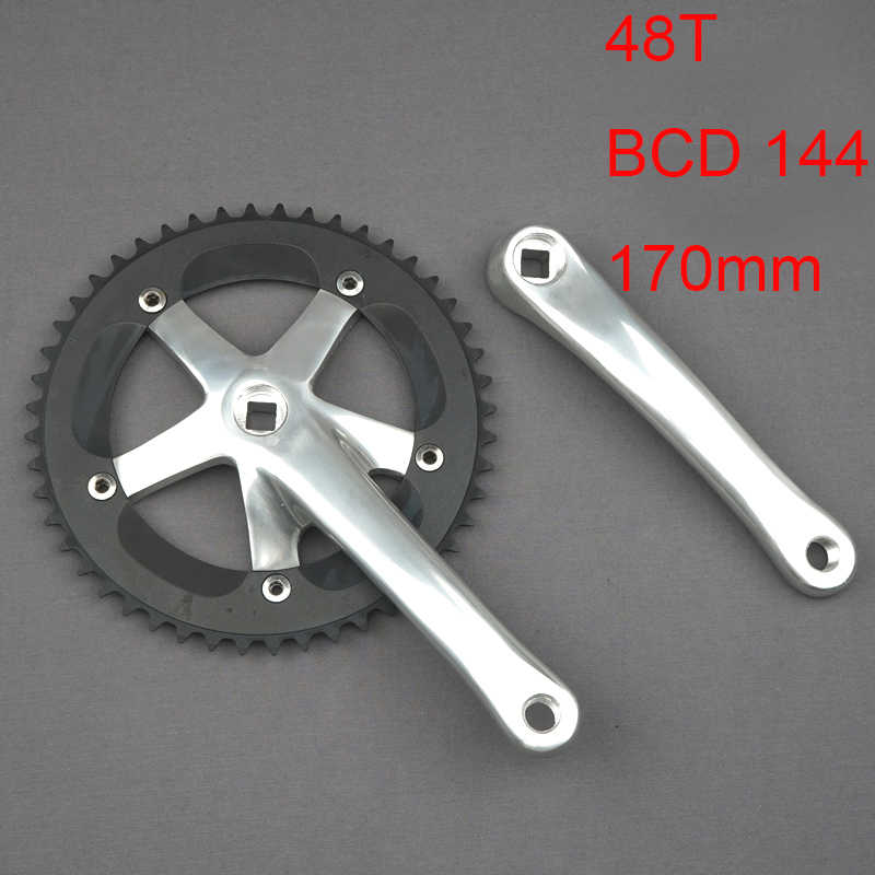 Bicycle Crank BCD144 165mm Length Aluminium alloy Crankset