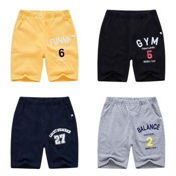 Boys Casual Letter-Pattern Shorts